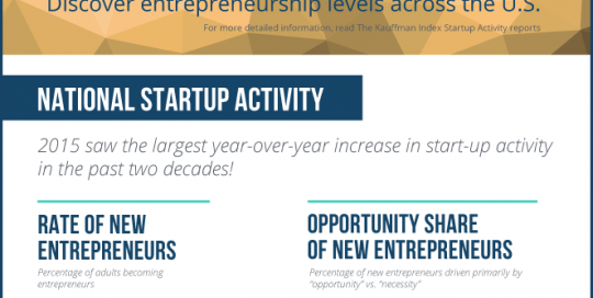 PORTRAIT OF AMERICAN STARTUP ACTIVITY IN 2015: NATIONAL TRENDS
